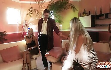 Wild group sex with anal loving sluts Barbara Nemeth & Mariann Lampbert