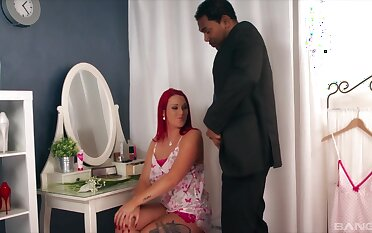 an obstacle man redhead deals an obstacle big dick in a risible interracial XXX