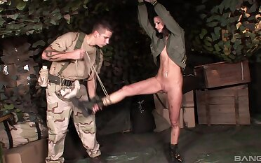 Undernourished girl Lulu Martines enjoys being tied up and tortured