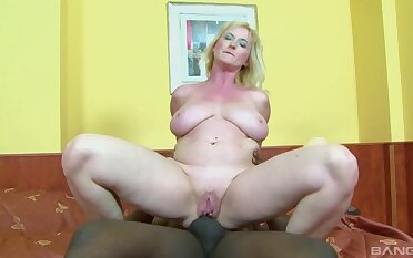 Busty mature wife Monika Wipper enjoys having anal sex with a BBC