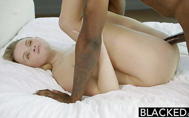 BLACKED Blonde Teen Melissa May Fucks Her Moms Boyfriend