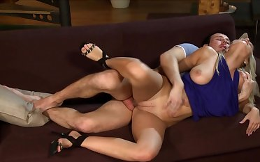 Exclusive hard sex on the couch with busty Marry A