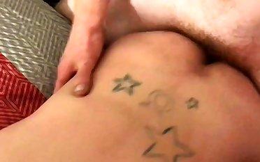 Cum dump taking it in the ass