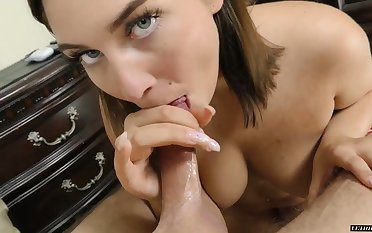 Right after good mish torrid Vivian Taylor gives awesome blowjob