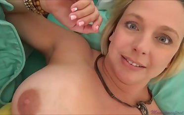 Brianna Beach is a huge-boobed platinum-blonde nymph who is oftentimes providing vocal jobs to influentially junior studs