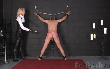 spanking and hard sex games with Mistress Akella this guy adores