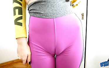 Huge Pest Aliment Tattoo Teen In Tight Spandex Big Cameltoe