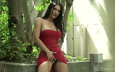 Romanian fit thick beauty Costly Demon seduces with the addition of fucks a hot man