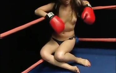 Topless domination boxing