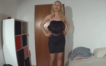Super sexy blonde fucked anally in nylons
