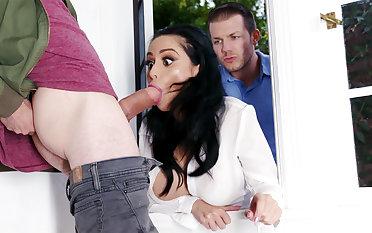 Lustful neighbors fucked everlasting busty wife