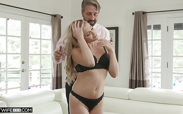 Young kept woman Nikki Squeal is fucked and jizzed by old sugar daddy