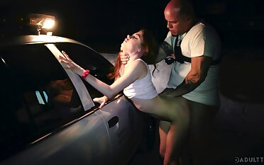 Arrested naughty newborn Hannah Hays is fucked by scanty outdoor