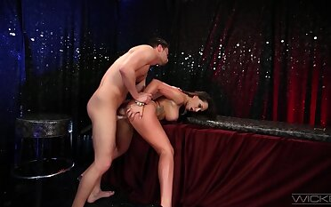 Top MILF rides with lust and hopes for a big load on her big tits
