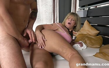 Granny takes their way dose of horseshit in a rough XXX
