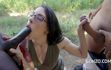Anna Hard Fuck In The Forest And DAP